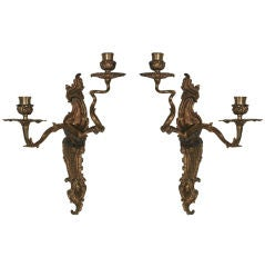Wall Sconces Gilt Bronze French Rococo Louis XV 18th Century France