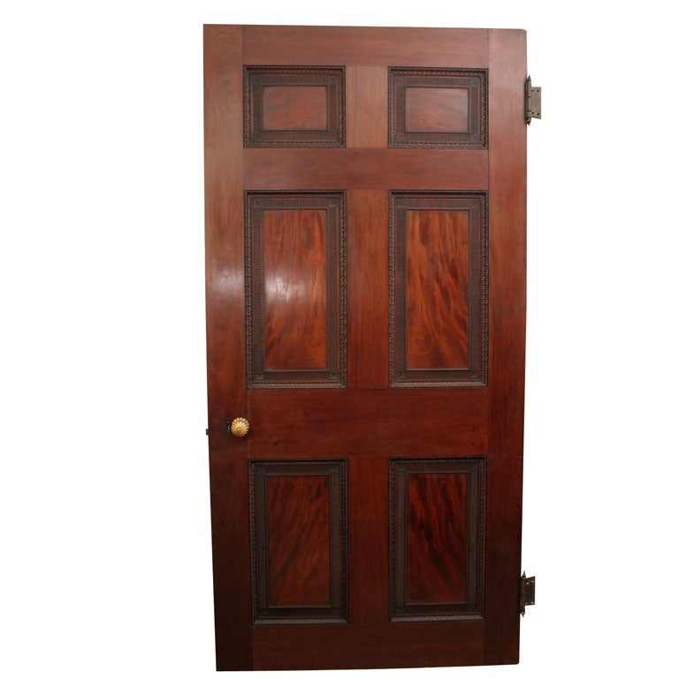 Antique Adam Period Carved Flame Grain Mahogany Door English circa 1770 For Sale  sc 1 st  1stDibs & Antique Adam Period Carved Flame Grain Mahogany Door English ...