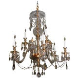 Custom Made to Order Cut Crystal Chandelier from One to Three Tiers