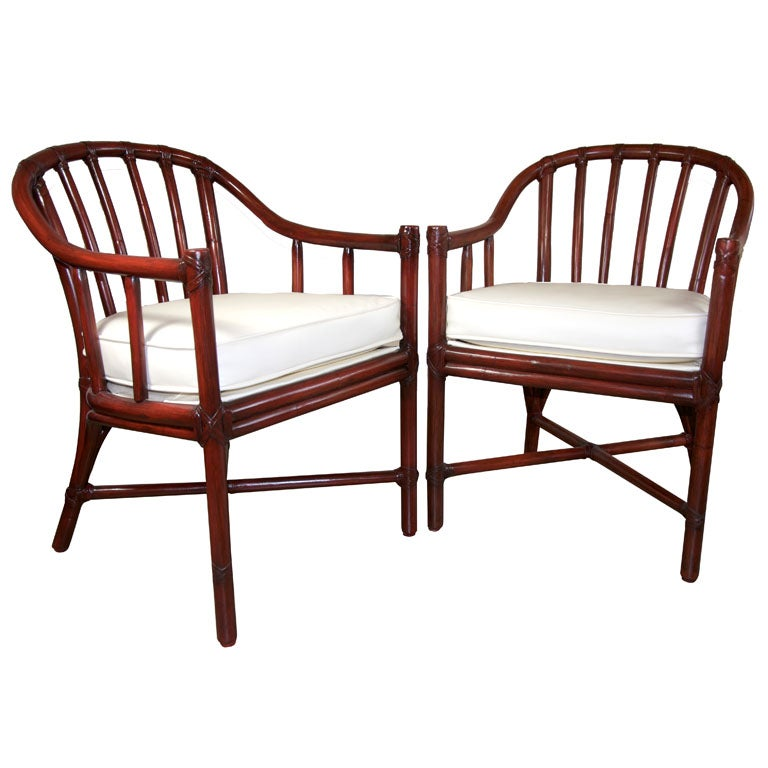 McGuire Bamboo Captainu0027s Chairs 1