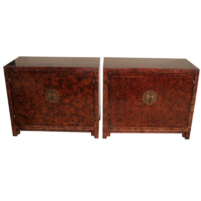 Pair of lacquered asian inspired chests at 1stdibs for Asian furniture nyc