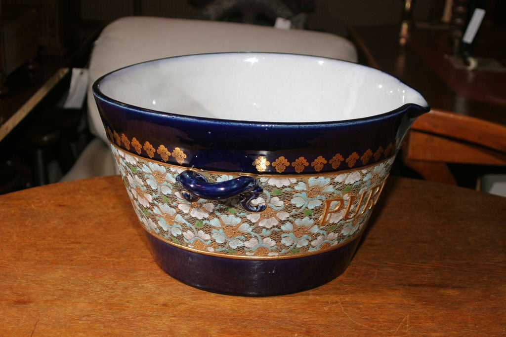 Rare Royal Doulton Blue Cloisonn 233 Milk Pail At 1stdibs
