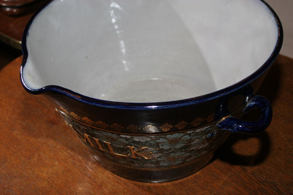 Rare Royal Doulton Blue Cloisonn 233 Milk Pail At 1stdibs