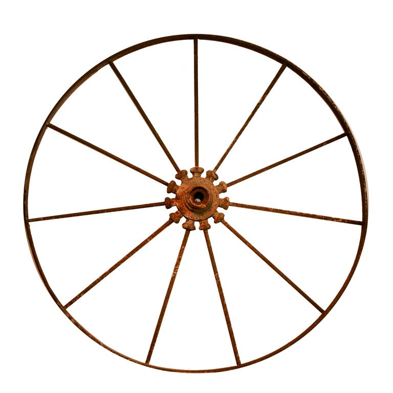 Metal Wagon Wheel From England At 1stdibs