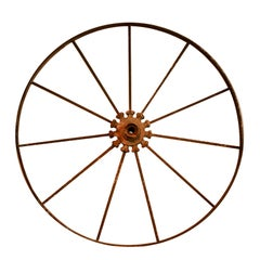 Metal wagon wheel from England