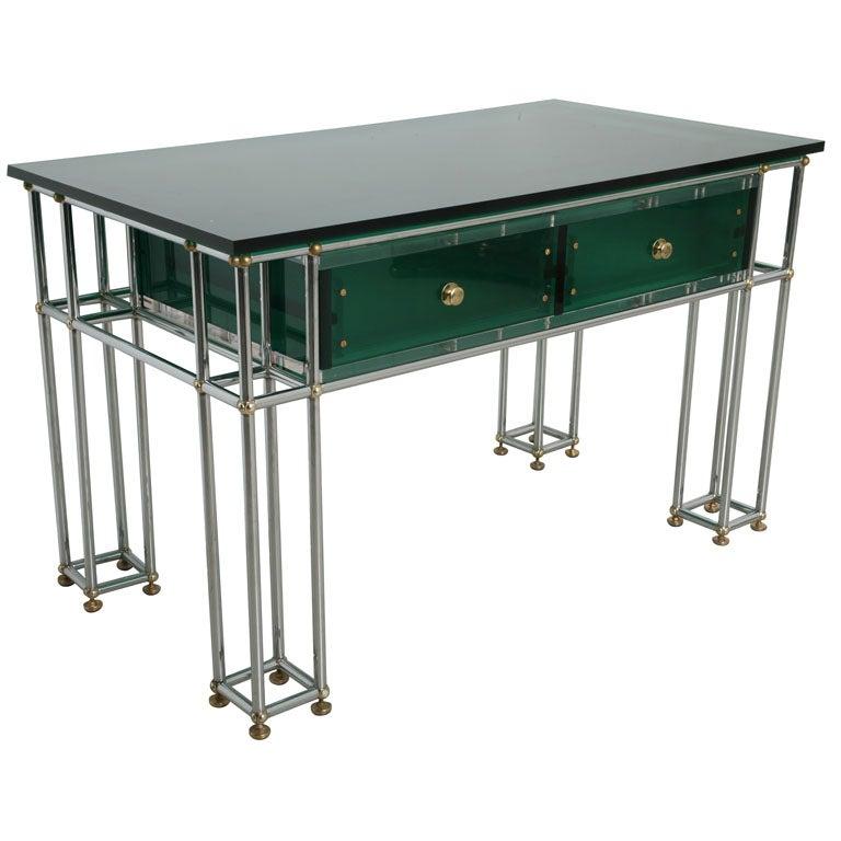 Mid Century Italian Lucite Desk At 1stdibs