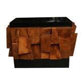 Paul Evans Faceted Burled Wood Cabinet