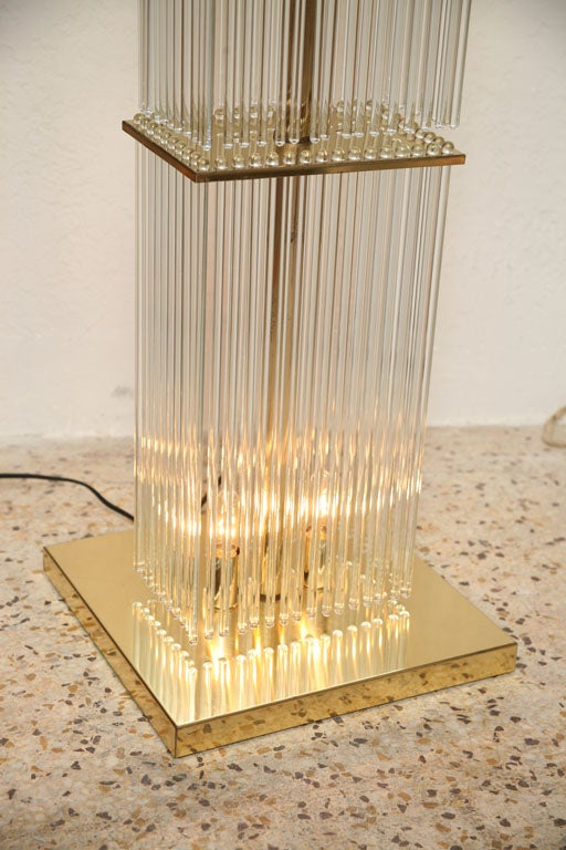 Glass Rod Floor Lamp At 1stdibs