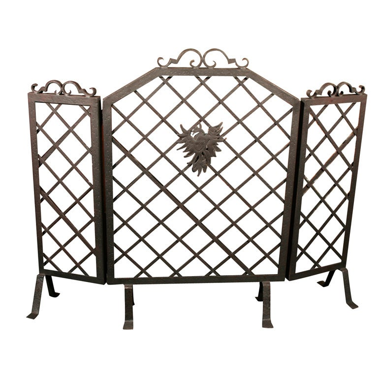 wrought iron fireplace screen at 1stdibs