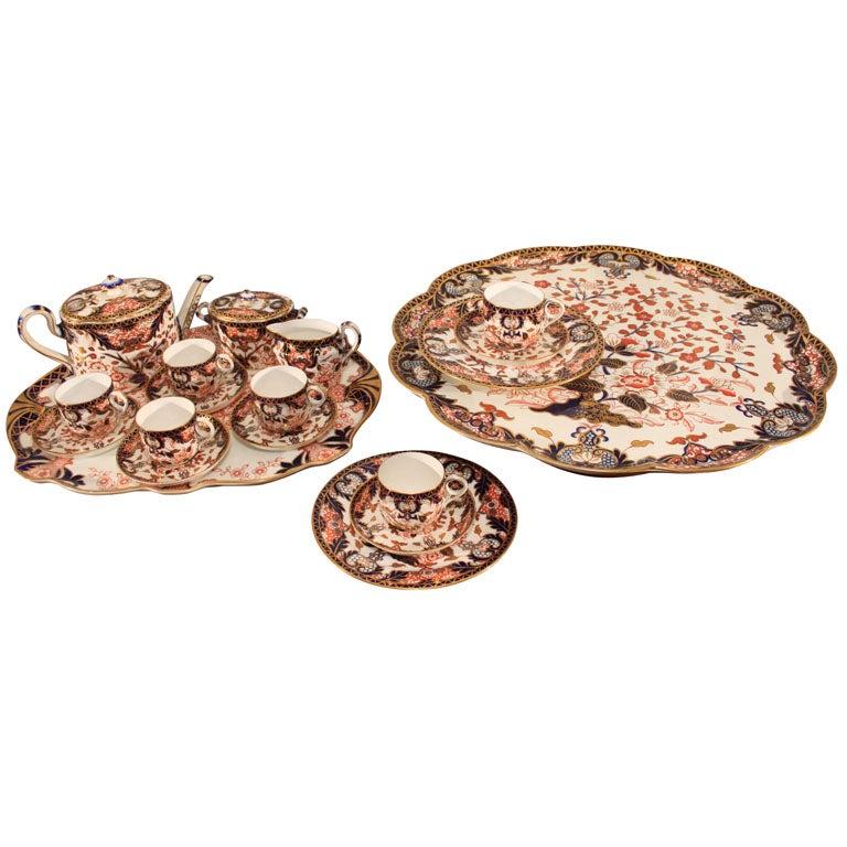 Royal Crown Derby Imari pattern tea set
