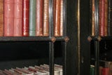 AN UNUSUAL REGENCY EBONIZED FOUR DOOR BOOKCASE thumbnail 5