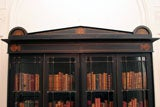 AN UNUSUAL REGENCY EBONIZED FOUR DOOR BOOKCASE thumbnail 7
