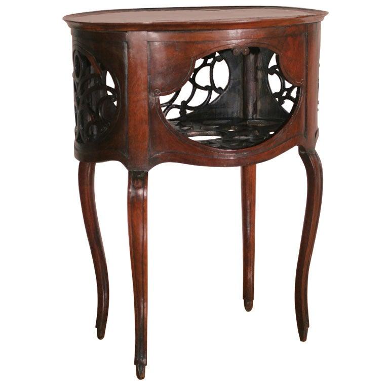 A rare mahogany louis xv 39 table de parfum 39 at 1stdibs - Table de chevet louis xv ...