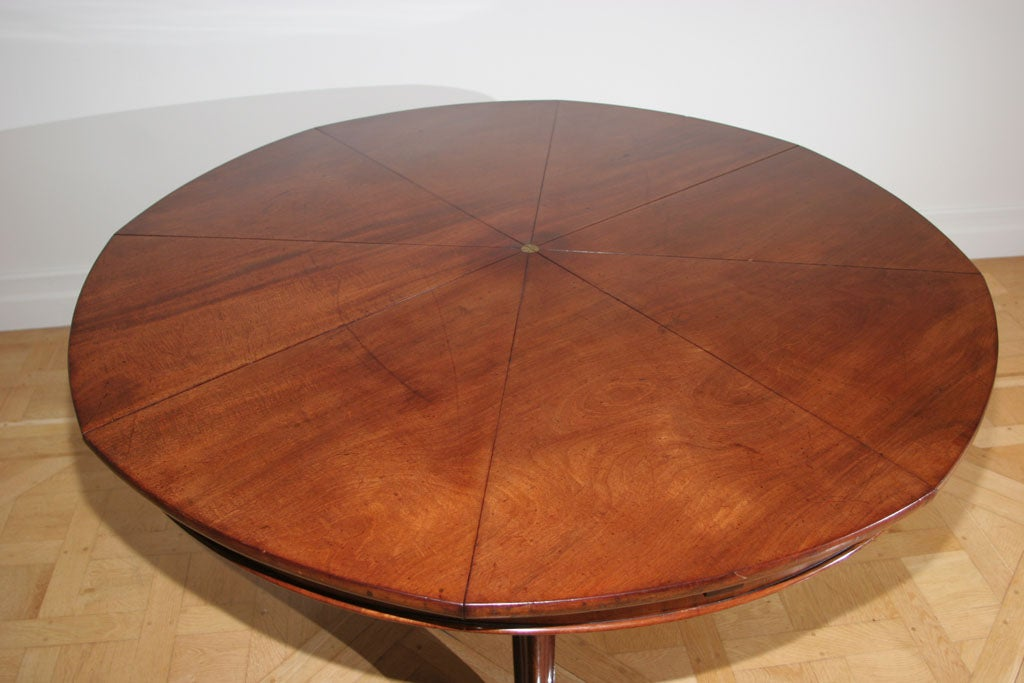 A very fine circular mahogany expanding 39 jupe 39 table at for Jupe mechanism