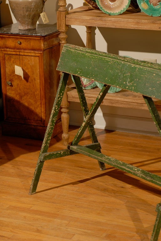 20th Century 20th C Painted Saddle Rack Saw Horse For Sale