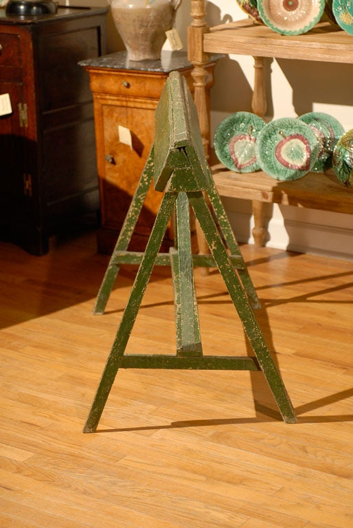 20th C Painted Saddle Rack Saw Horse 6