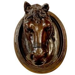French Terracotta Horse Head