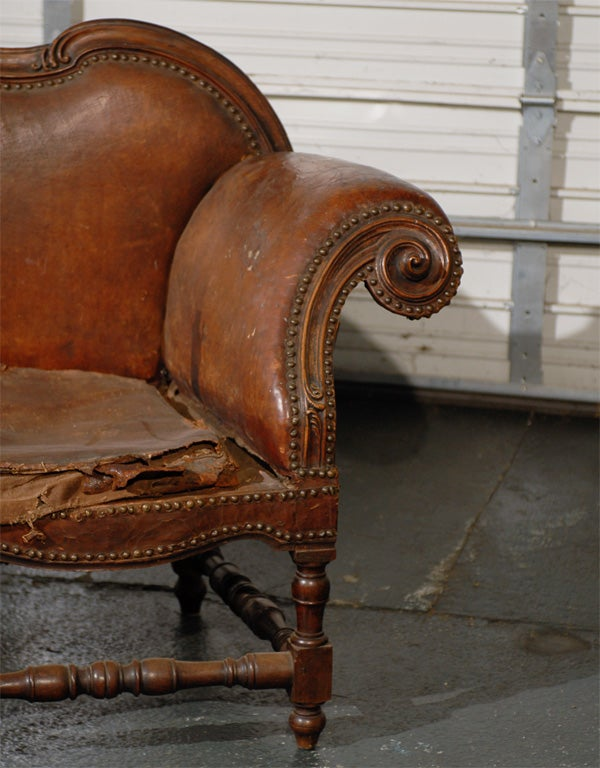 17th 18th century italian settee incredible form for sale