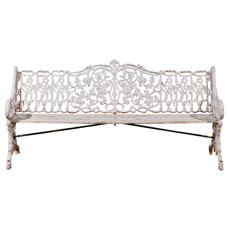 19thc Iron English Garden Bench For Sale At 1stdibs