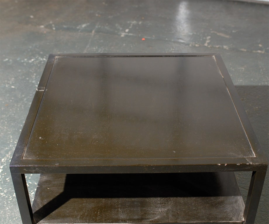 Vintage Black Square Coffee Table For Sale At 1stdibs