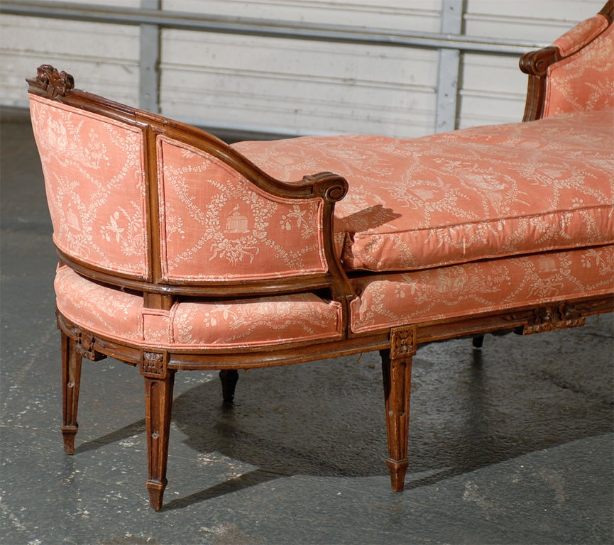 Late 18thc 19thc louis xvi french chaise for sale at 1stdibs for Chaise louis xvi