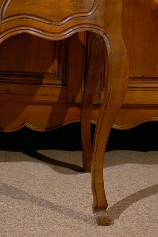 Mid-18th Century Louis XV Walnut Console Table with Hoof Feet ca. 1760 For Sale