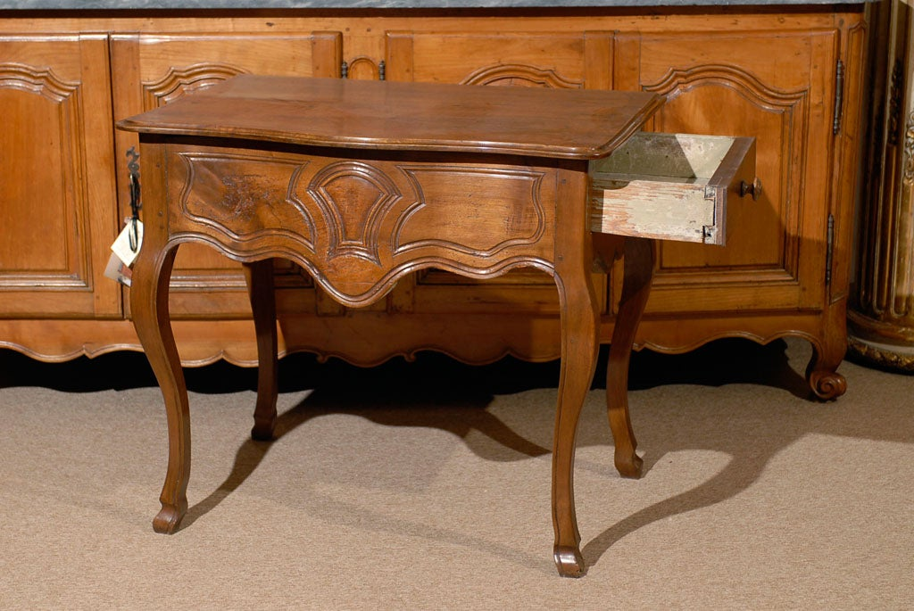 Louis XV Walnut Console Table with Hoof Feet ca. 1760 For Sale 2
