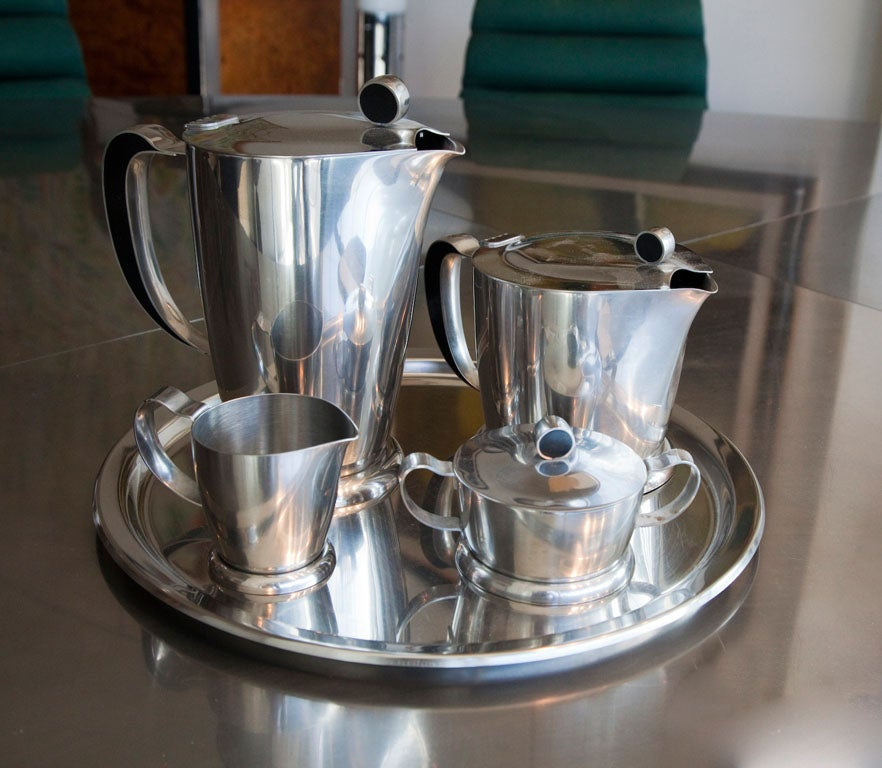Gense Stainless Steel Tea Coffee Set Service At 1stdibs