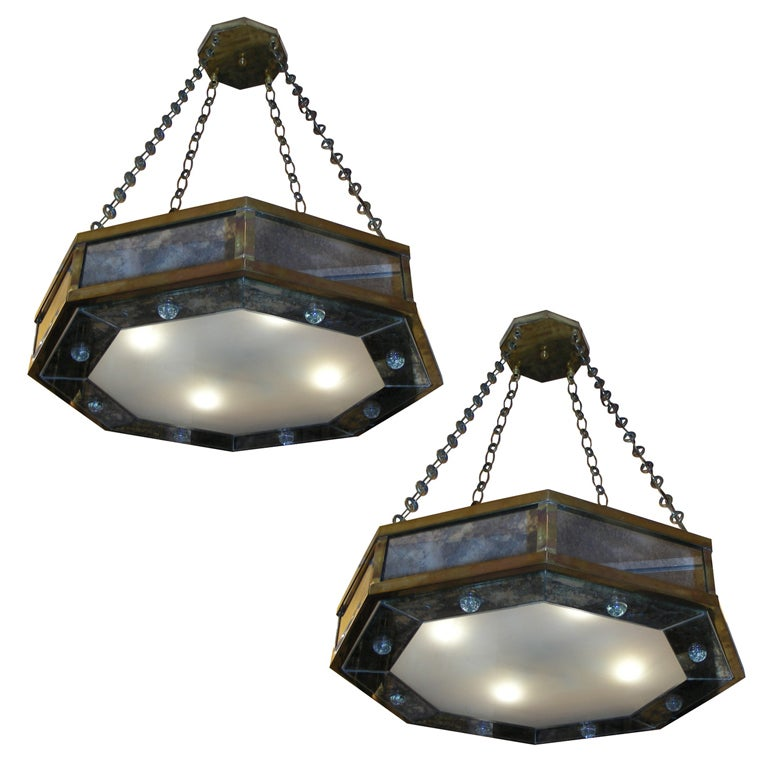 Pair of Contemporary Chandeliers by André Hayat For Sale