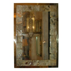 Contemporary Rock Crystal Lighted Mirror by Andre Hayat