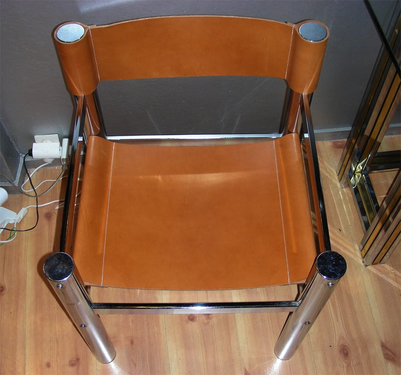 Steel Two 1970s Armchairs For Sale