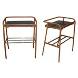 Two 1950s Night Stands or End Tables by Jacques Adnet