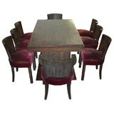 1930s Dining Rooms Suite by Jacques Adnet