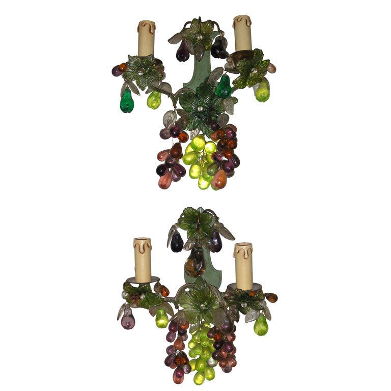 Wall Sconces With Grapes : Two 1950s Bunch of Grapes Sconces at 1stdibs