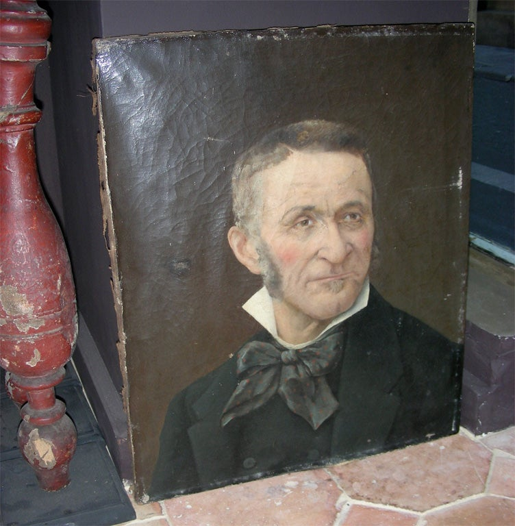 End of 19th century portrait of a man, possibly a writer or an artist, without frame.
