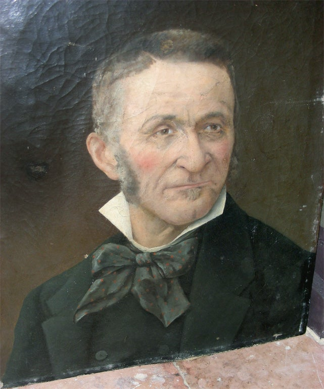 French End of 19th Century Portrait of a Man For Sale