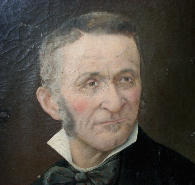 Canvas End of 19th Century Portrait of a Man For Sale