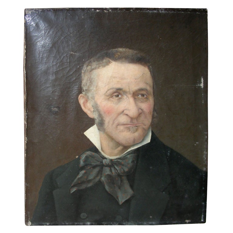 End of 19th Century Portrait of a Man For Sale