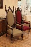 Gothic Revival Tall Chairs image 10