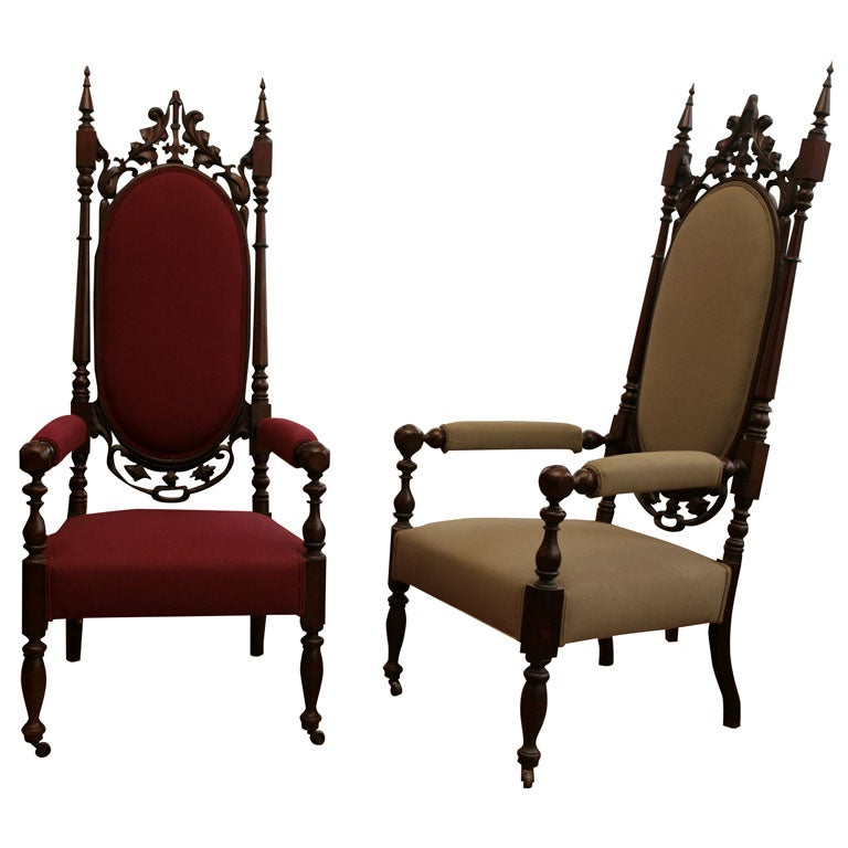 Gothic Revival Tall Chairs