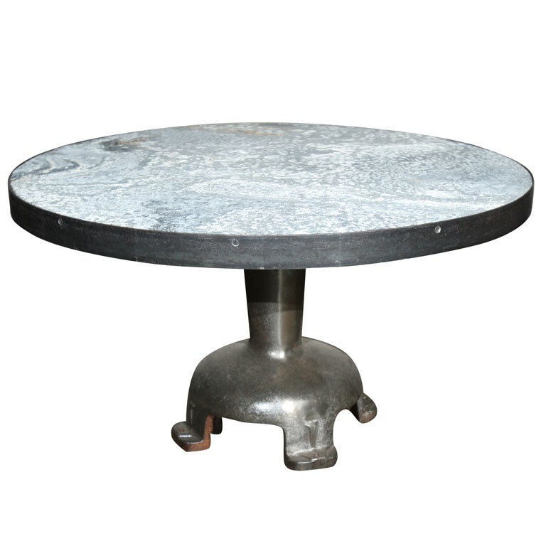 Zinc Top Coffee Table At 1stdibs