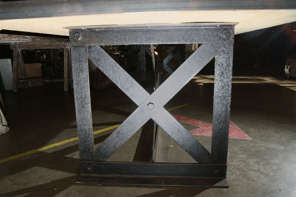 12 ft steel base table at 1stdibs for 12 ft table