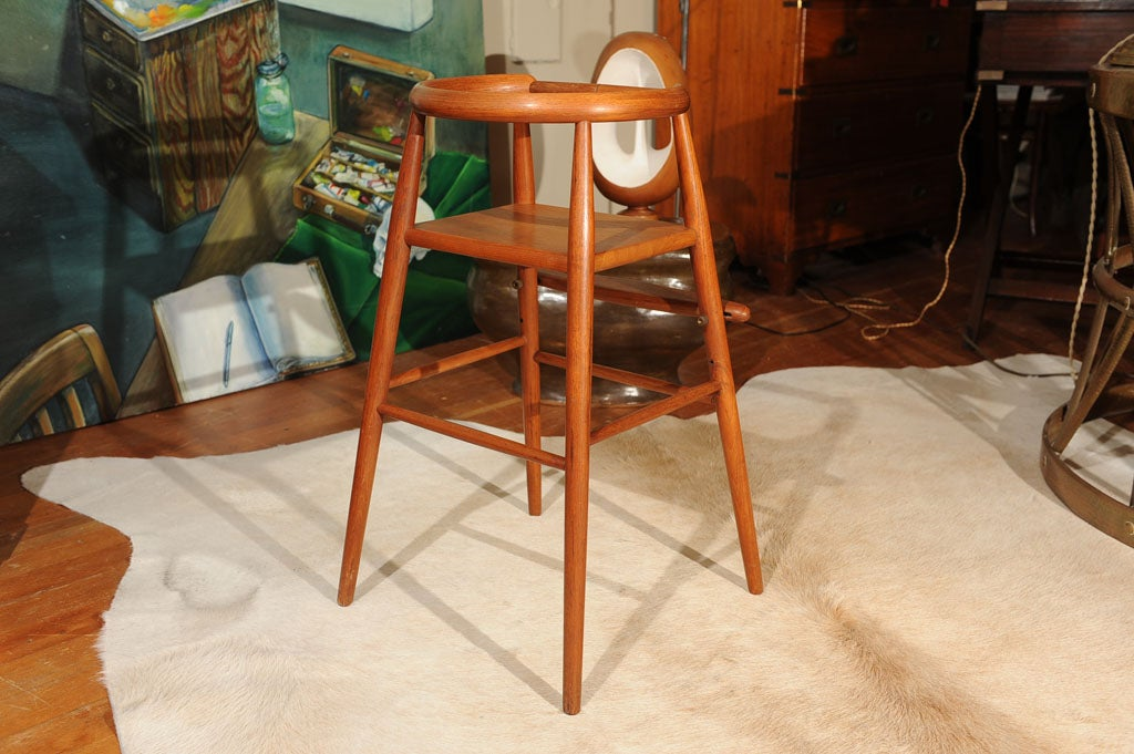Danish Modern Teak Child's Chair 4