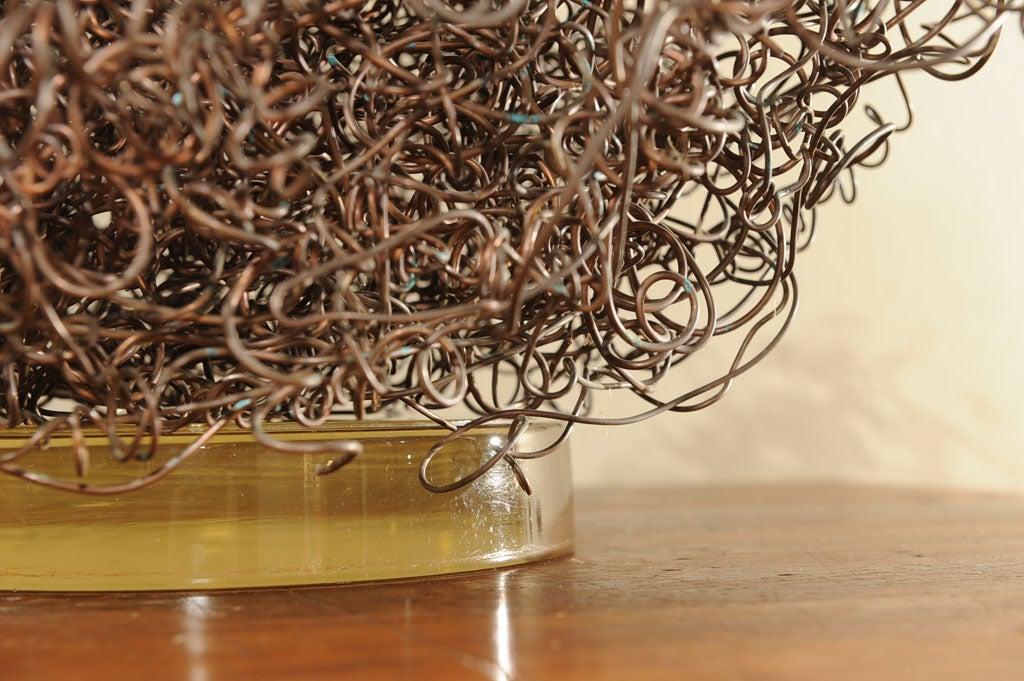 Copper Wire Bundle : Copper wire bundle sculpture at stdibs