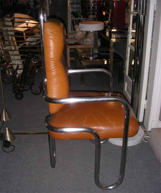 Two 1971 Armchairs by Kwok Hoi Chan for Steiner In Good Condition For Sale In Paris, FR