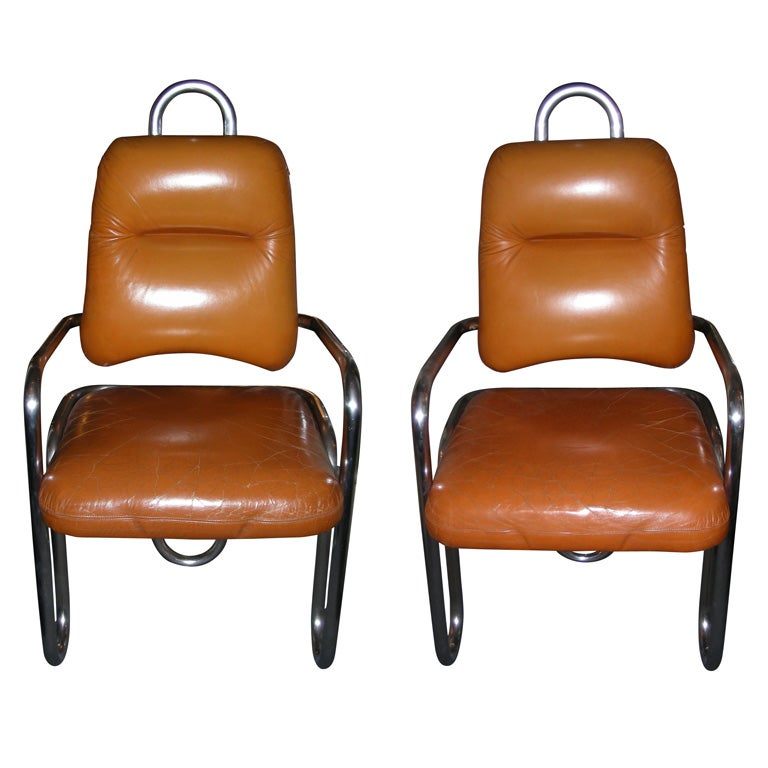 Two 1971 Armchairs by Kwok Hoi Chan for Steiner