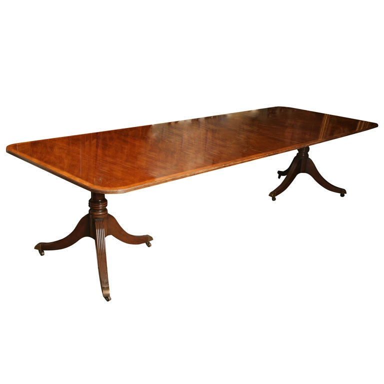 Exquisite mahogany baker dining room table with three leaves for 3 leaf dining room tables