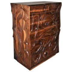 Michael Wilson Carved Out Dresser