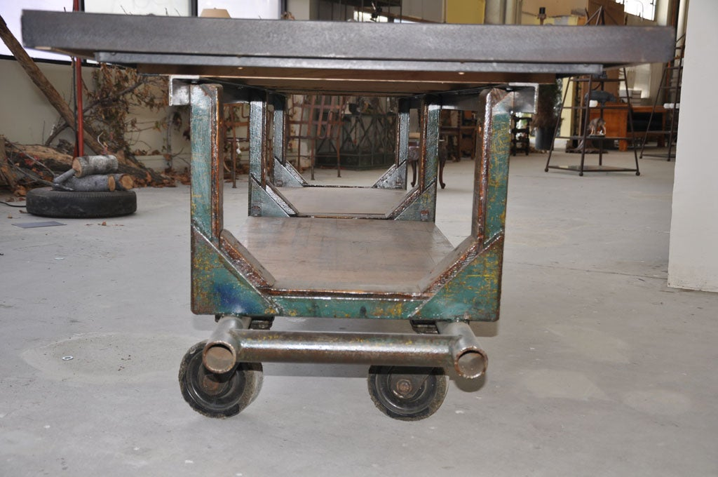 vintage industrial  u0026 39 wheel cart u0026 39  at 1stdibs