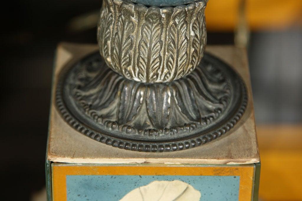 Pair of Églomisé Lamps For Sale 1